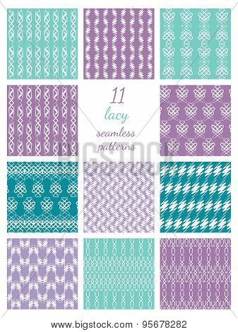 Lacy Seamless Patterns Collection