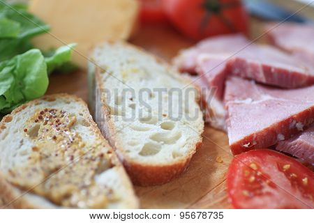 Fixing ham sandwich