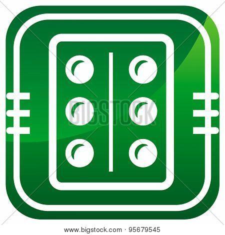 Pills, Medication Green Icon