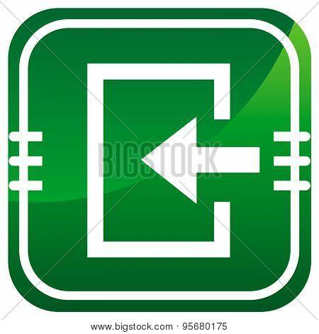 Enter- Green Icon