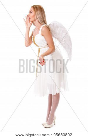 Beautiful Young Angel Telling Something