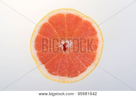 Halved citrus fruit