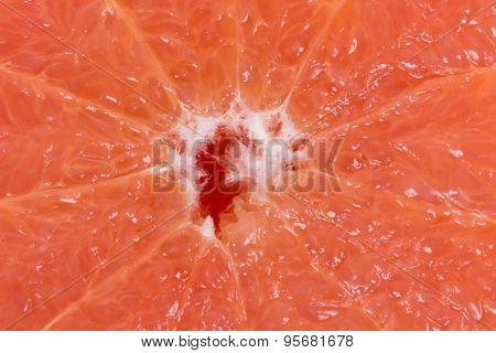 Halved citrus fruit close up