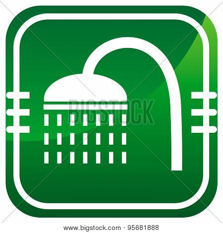 Shower Green Icon