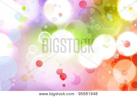 Colorful circles abstract background