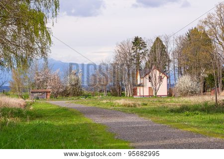 House on the roadside.