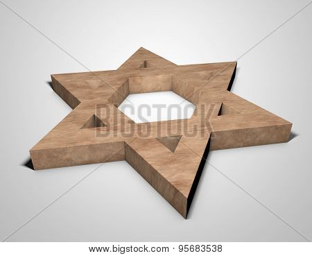 Stylized Image Star Of David Made Of Stone