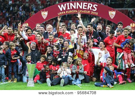 Fc Sevilla Club - The Winner Of The Uefa Europa League 2015