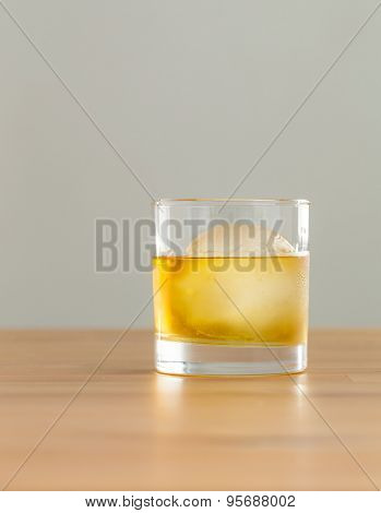 Whiskey with ice ball