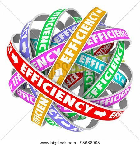 Efficiency ribbons cycle for good performance of a process, system, procedure or worker in a consistent effective pattern