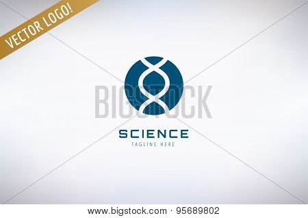 DNA chain vector logo. Science, experience and molecular symbol. Stocks design elements