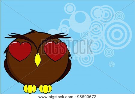 inlove owl cartoon expressions background