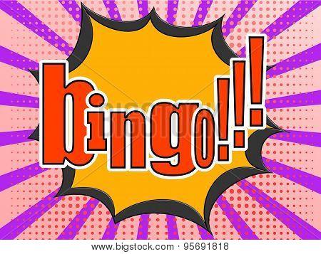 Bingo Comic Speech Bubble
