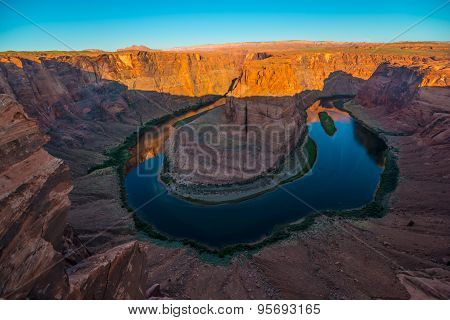 Horseshoe Bend Page Arizona At Sunrise