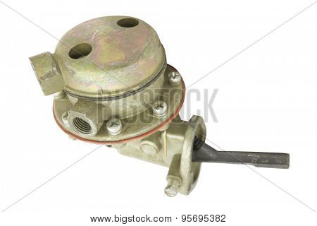 fuel booster pump isolated under the white background