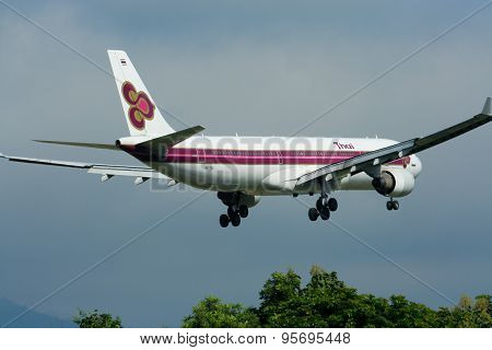 HS-TEA Airbus A330-300 of Thaiairway.