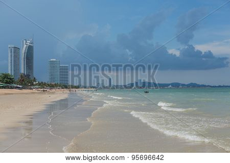 Heavy Clouds On A Beach