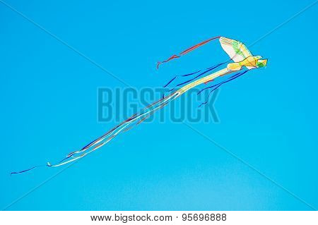 Colorful kite in the blue sky