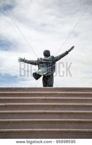Domenico Modugno Statue In Polignano, Italy