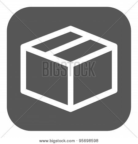 The Box Icon. Delivery And Shipping Symbol. Flat