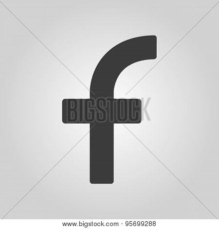 The Letter F Icon. Letter F Symbol. Flat