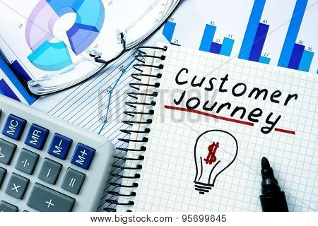 Notepad with Customer Journey.