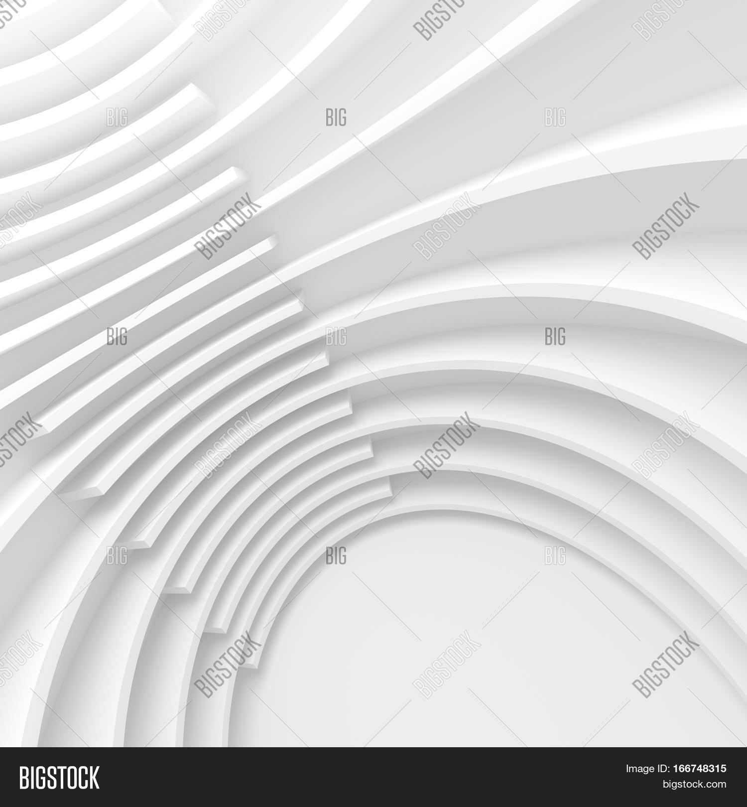 Curved Architecture White Architecture Circular Background Modern Building Design
