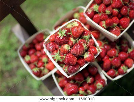 Strawberries At Market
