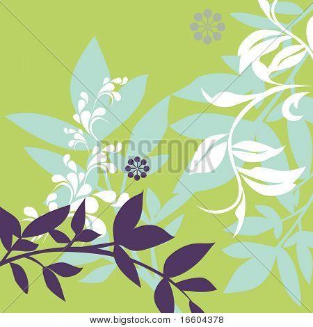 diseño vintage de flora