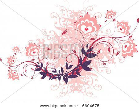 pink flora graphic