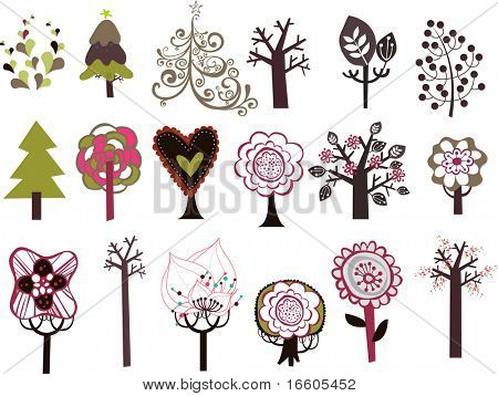 trees design set 2