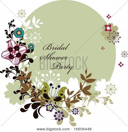 bridal shower party invitation card