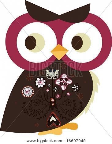 cute little owl character design