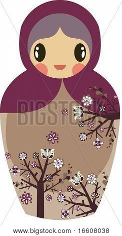 sweet Russian doll design