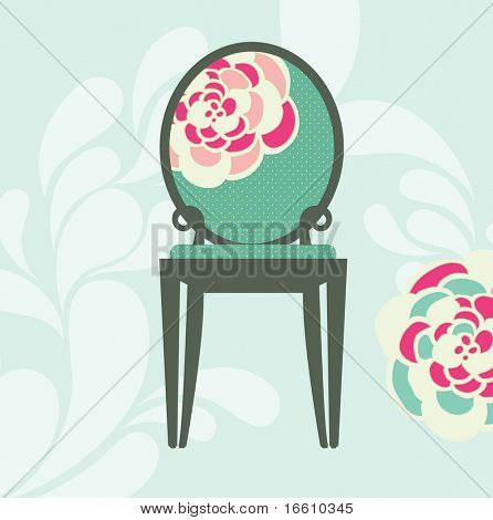 sweet floral design vintage chair