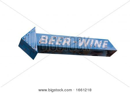 Beer And Wine Arrow