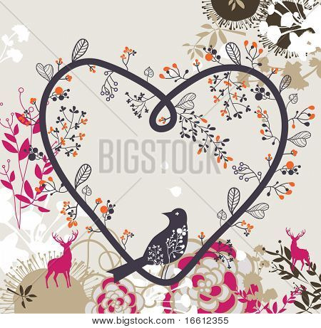 lovely little bids and floral card