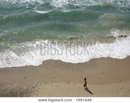 Woman On Beautiful Beach