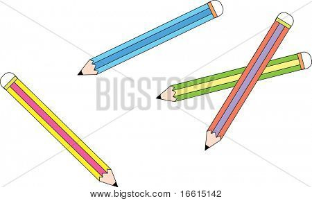 Illustration of mixed pencils