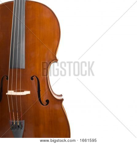 Cello On White Whith Copyspace