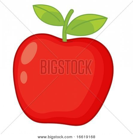 illustration of a crispy red apple