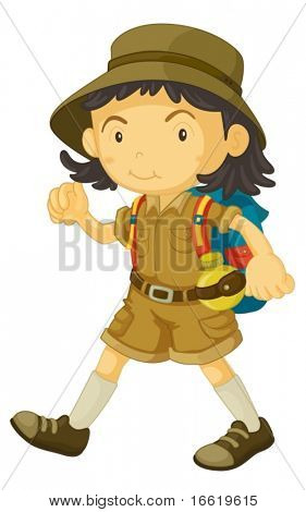 illustration of a cub scout in uniform