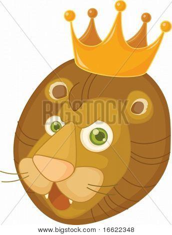 illustration of lion face on white