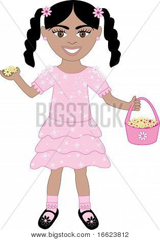 Pink Dress Flower Girl
