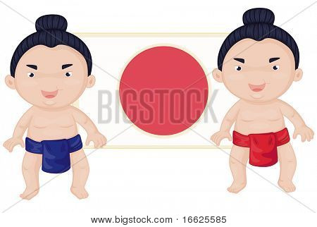 sumo wrestlers (vector available in portfolio)