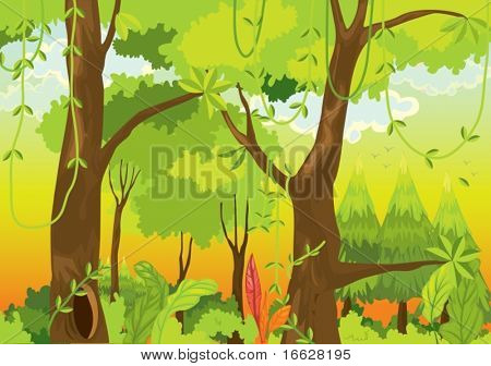 Illustration of  a forest