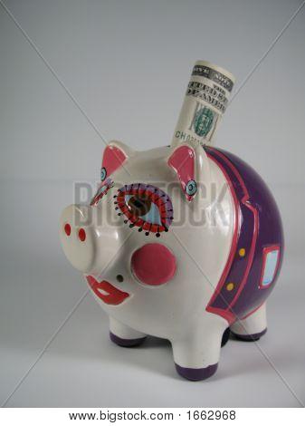 Piggy Pink Ceramic Bank