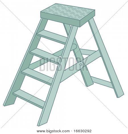 illustration of ladder on white