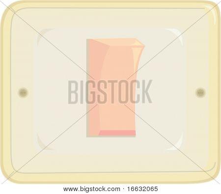 illustration of switch on white