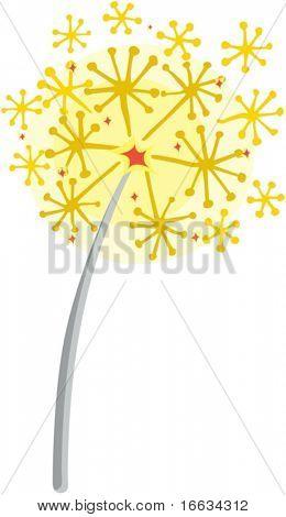 illustration of magic sticks on white